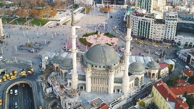 İşte Taksim Camii: Tüm heybetiyle ortaya çıktı