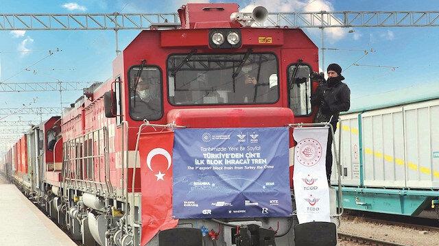 Çin'e ihracat treni tam yol ilerliyor
