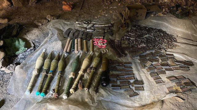 MSB duyurdu: Pençe-Kaplan Operasyonu'nda terör örgütü PKK'ya ait mühimmat ele geçirildi