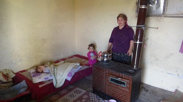 Kanser hastası kadın iki çocuğuyla sokağa atıldı