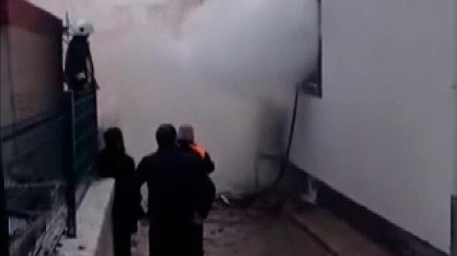 Kayseri'de vakıf binası alev alev yandı