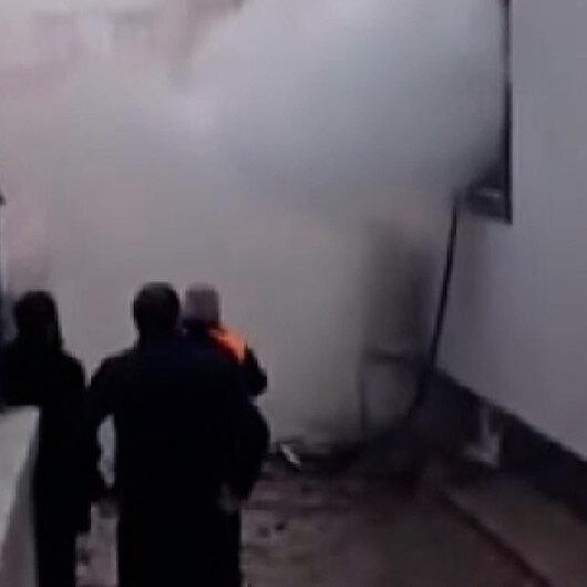Kayseride vakıf binası alev alev yandı