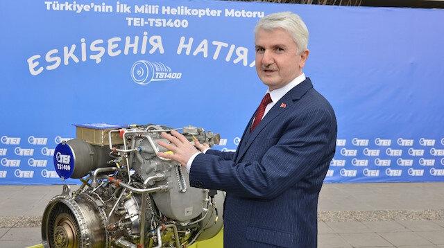 Milli helikopter motoru TEI-TS1400 seri üretim yolunda