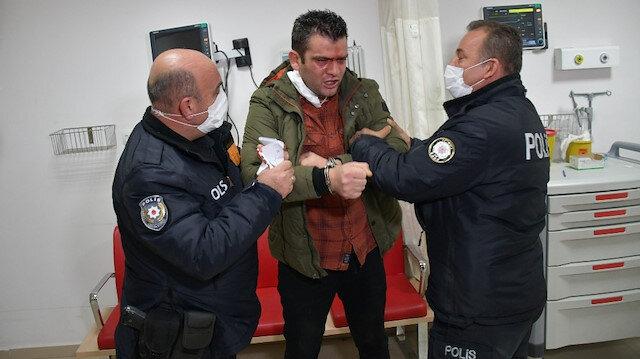 'Vatan, millet' dedi, polise küfürler yağdırdı