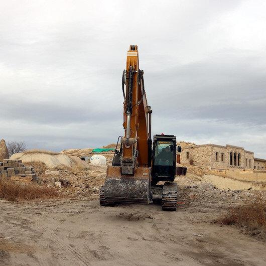 Kapadokya'daki kaçak yapılara geçit yok: Bir bir yıkılıyorlar