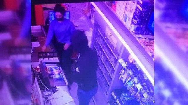 Avcılar'da silahlı market soygununun görüntüleri ortaya çıktı