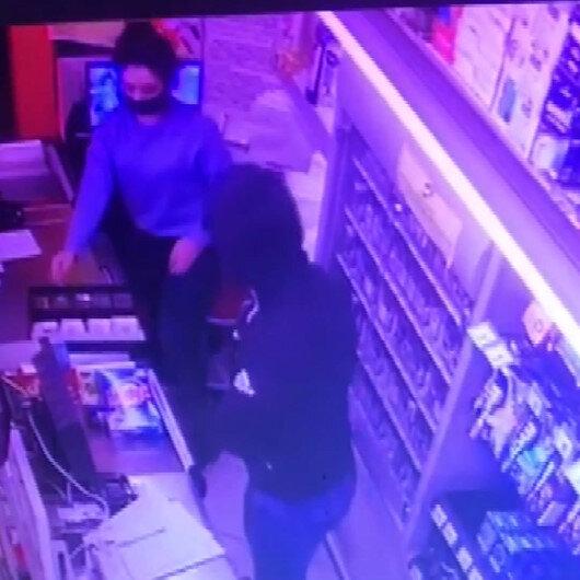 Avcılarda silahlı market soygununun görüntüleri ortaya çıktı
