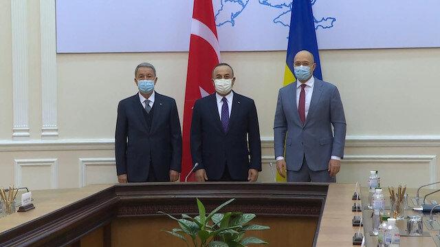 Bakan Akar ve Çavuşoğlu Ukrayna Başbakanı ile görüştü: Serbest ticaret anlaşmasının imzalanması çok yakın