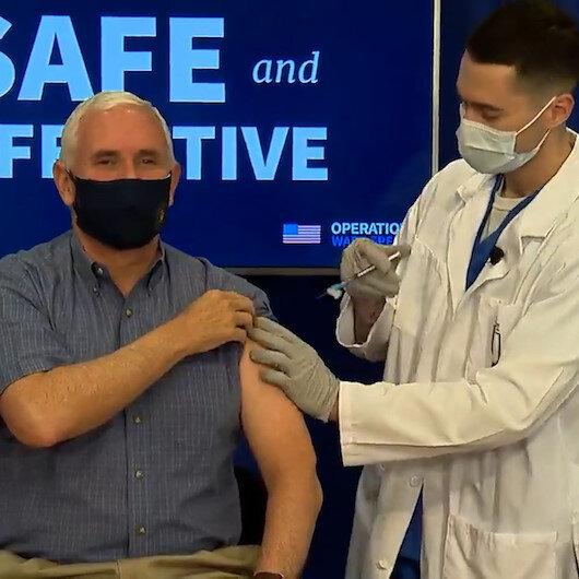 Mike Pence canlı yayında koronavirüs aşısı oldu
