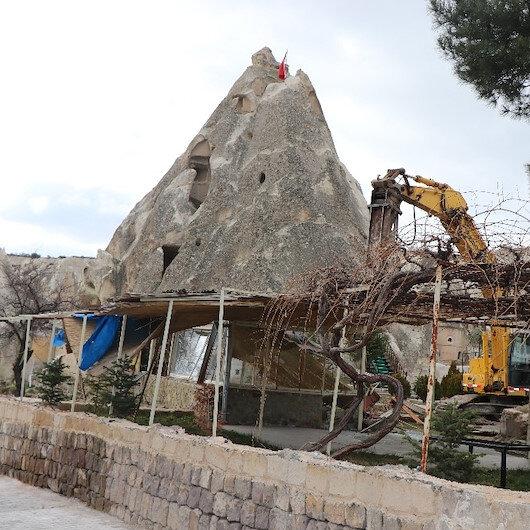 Turizm merkezi Kapadokya'da 305 kaçak yapı yıkılacak