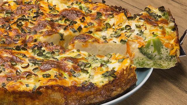 Pırasanın lezzete döküldüğü tarif: Peynirli pırasalı kiş