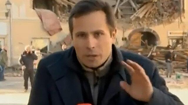 Hırvatistandaki şiddetli depreme muhabir canlı yayında yakalandı: Korku dolu anlar kamerada