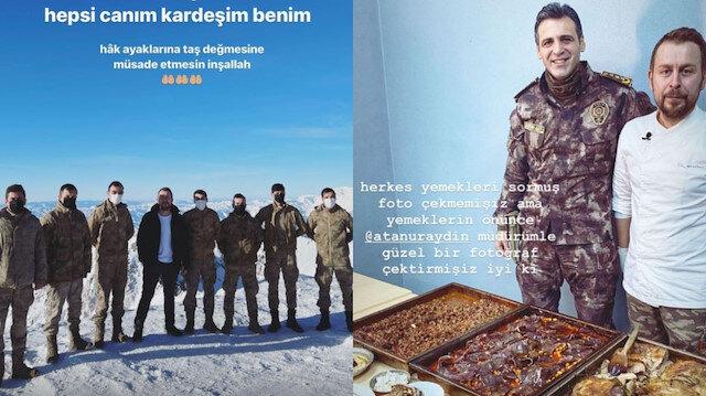 Aşçı Ömür Akkor 3500 metredeki üs bölgesinde Mehmetçikler için yemek yaptı