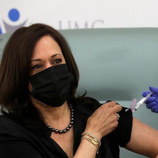 ABD başkan yardımcılığına seçilen Kamala Harris canlı yayında koronavirüs aşısı oldu