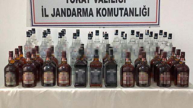 Kaçak içki operasyonları devam ediyor: Tokat'ta 102 litre ele geçirildi