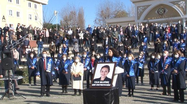 Vahşice katledilen Aylin Sözer'in okulunda yas var: Anma töreninde gözyaşlarına boğuldular