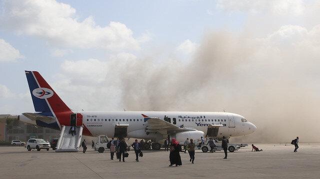 Aden Havalimanı'nda patlamalar