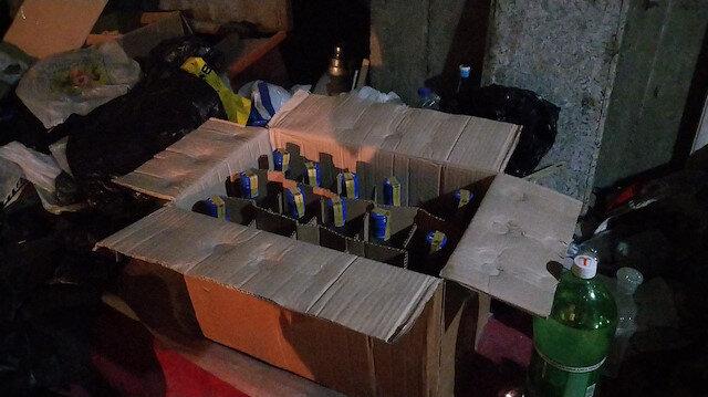 Yeni yıl öncesi garaja sahte içki baskını: İçkiler gizli bölmeden çıktı