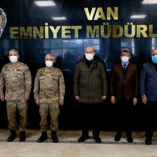 İçişleri Bakanı Soylu Van Emniyet Müdürlüğünü ziyaret etti
