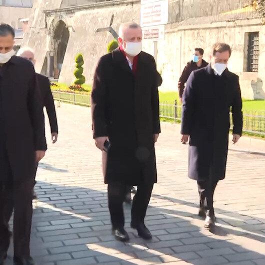 Cumhurbaşkanı Erdoğan Ayasofya Camisinden İstanbul Valiliğine yürüyerek gitti