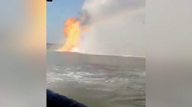 Meksika'da görenleri şoke eden görüntü: Denizin ortasında alev topu oluştu