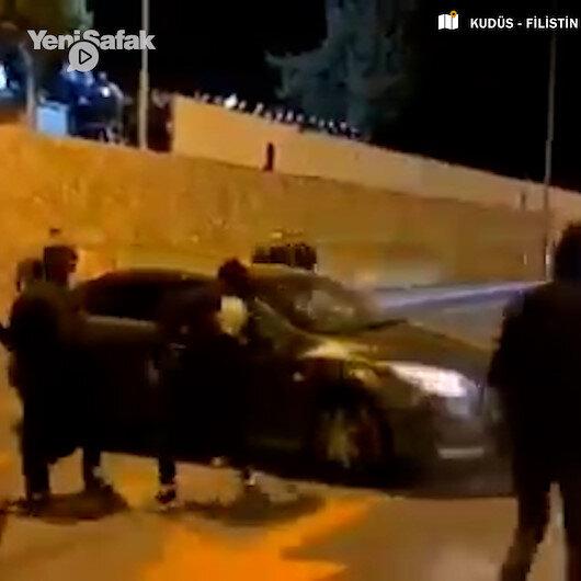 İsrailli işgalcilerden Filistinlilere linç girişimi: Taş atın annesini alın!
