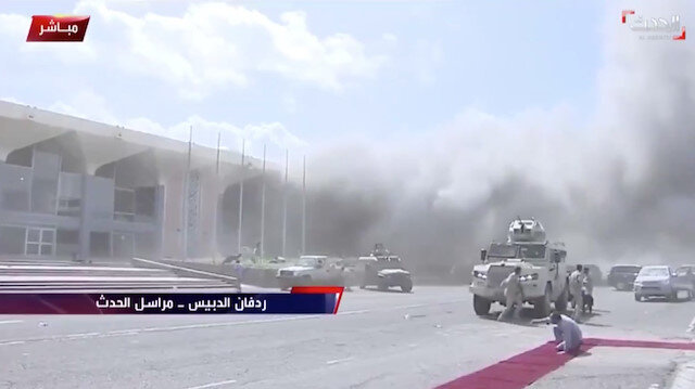 Husiler, havaalanındaki patlamalardan koalisyon güçlerini sorumlu tuttu