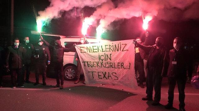 Bursasporlu taraftar grubu TEXAS'tan polis ekiplerine anlamlı destek
