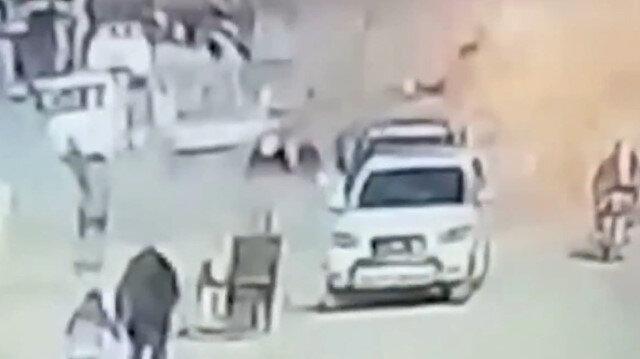 Resulayn'da bomba yüklü aracın patlama anı kamerada