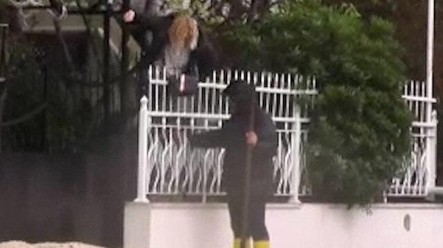 Antalya'da evinin yolu suyla dolan kadın evine demir parmaklıklardan atlayarak girdi