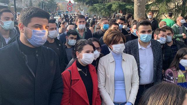 Terör örgütü DHKP-C marşının okunduğu Boğaziçi Üniversitesi'ndeki eylemlere HDP CHP ve İYİ Partililerden destek