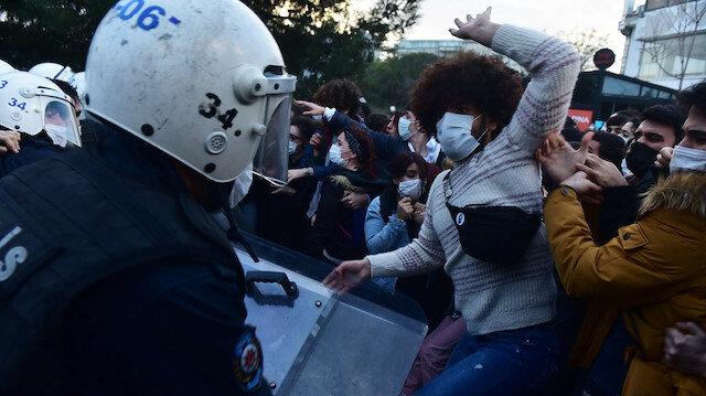Boğaziçi Üniversitesi'ndeki göstericiler öğrenci bile değilmiş: 'Katil polis' sloganları atan provokatörlere gözaltı