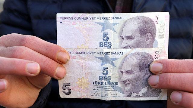 5 lirayı karşılık 50 bin lira