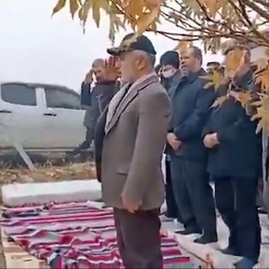 Kahramanmaraşta Kasım Süleymani posteri önünde yemin: Sen ölmedin huzurumuzdasın emrini bekliyoruz