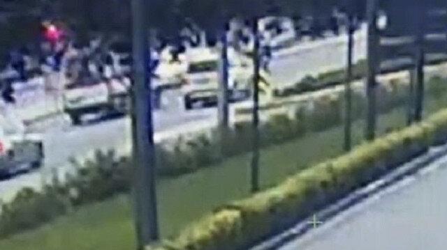 Sarıyer'de hastaya yetişmeye çalışan ambulans böyle kaza yaptı