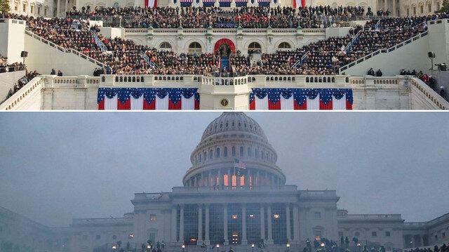 Trump dönemi nasıl başladı nasıl bitti: Bu fotoğraflar sosyal medyada viral oldu