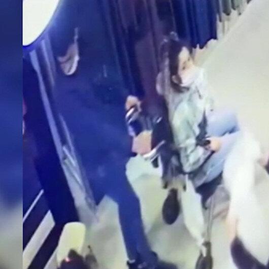 Tekerlekli sandalyeli telefon hırsızları kamerada