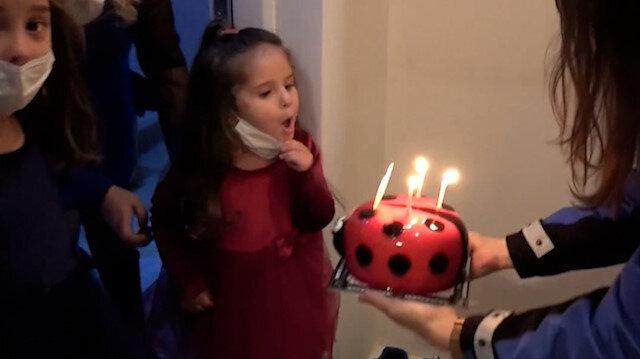 Balıkesir'de polis bu kez operasyona değil 'doğum günü' kutlamaya gitti