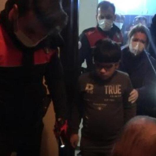 Sobadan sızan gazdan etkilenen Iraklı anne ve oğlunu polis kurtardı