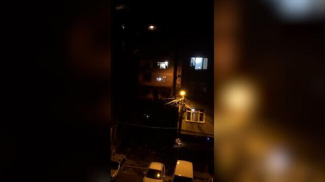 Hisarüstü'nde öğrenci ve bir kısım mahalleliden tencere tavalı eylem