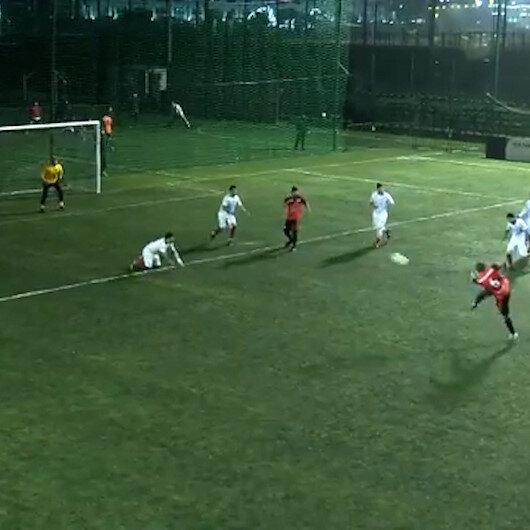 Khabib Nurmagomedovdan gösteri maçında fantastik gol