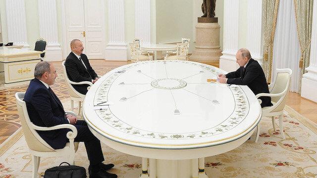 Rusya'da Karabağ zirvesi başladı: Aliyev ve Paşinyan bir araya geldi