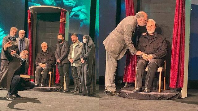 İran'da Kasım Süleymani'nin balmumu heykeli açıldı: Öpüp selam veriyorlar