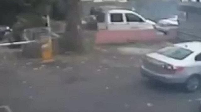 Kadıköy'de park halindeki kamyonetten karot makinesinin çalınması kamerada