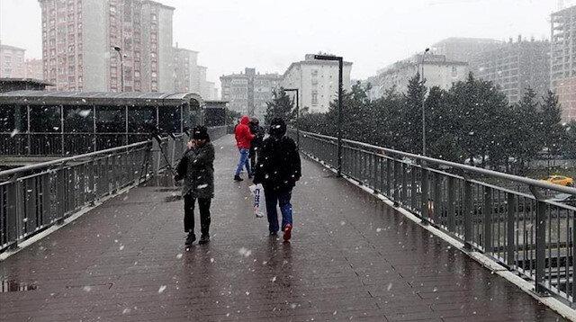 İstanbul'da dört gün kar yağışı etkili olacak
