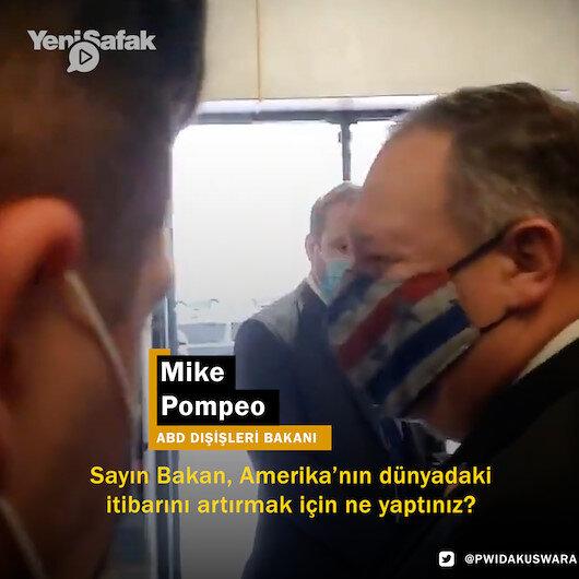 ABD Dışişleri Bakanı Pompeoya soru soran gazeteci işten çıkarıldı