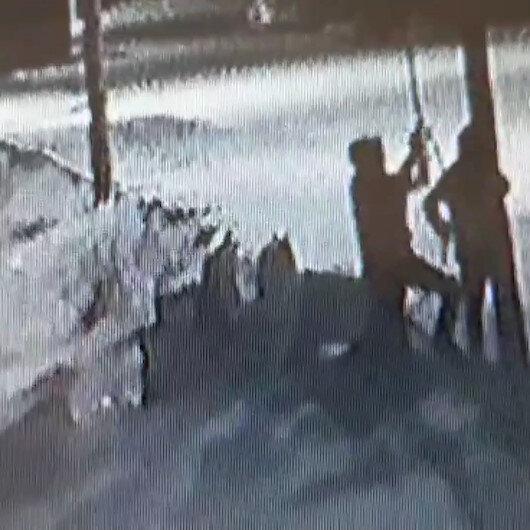 Tekirdağda telefon hattı kablolarını çalan hırsızlar kameraya yakalandı