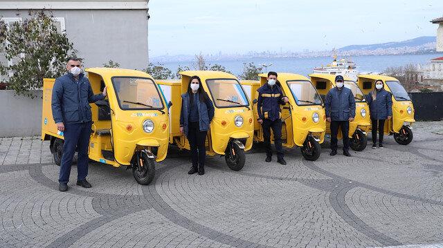 Adalar'da hizmete başladı: PTT'nin çevre dostu elektrikli araçları 4 adada hizmet verecek