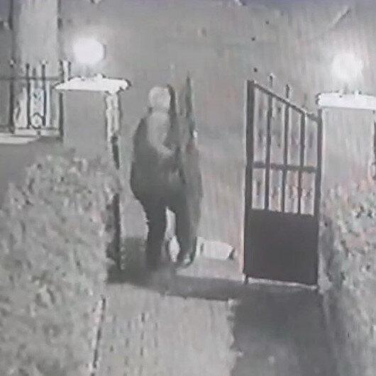 Silivride hırsızlar sitenin demir kapısını böyle çaldı
