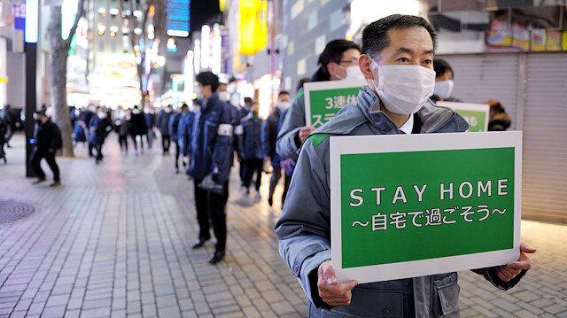Japonya'da koronavirüse karşı ilan edilen OHAL kapsamı genişliyor: 11 eyalette uygulanacak